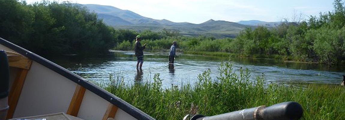 Wading-and-fishing-in-Montana
